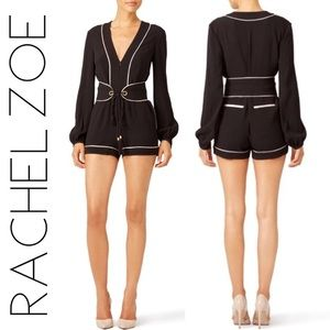 Rachel Zoe Paloma long sleeve Romper jumpsuit